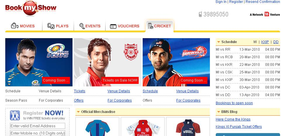 Book IPL Tickets at BookMyShow