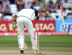 VVS Laxman Bowled - England vs India 2nd Test - Trent Bridge - 2011