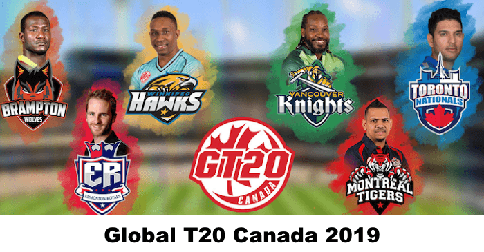 Global T20 Canada 2019 Full Squads