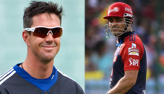 "Kevin Pietersen recalls playing with ""superstar"" Virender Sehwag"